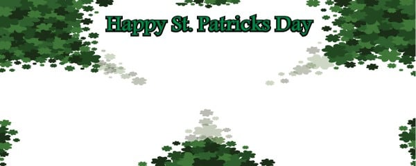 Happy St. Patricks Day The Shamrock Design Small Personalised Banner - 4ft x 2ft