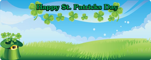 Happy St. Patricks Day Lucky Hat Design Large Personalised Banner - 10ft x 4ft
