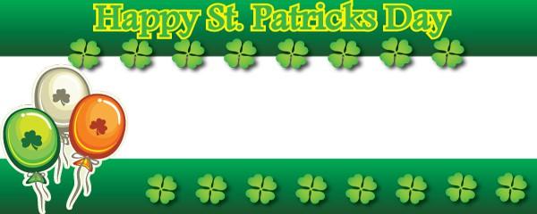 Happy St. Patricks Day Irish Balloons Design Large Personalised Banner - 10ft x 4ft