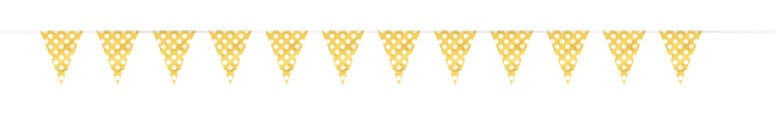 Sunflower Yellow Decorative Dots Bunting - 12 Ft / 3.65m