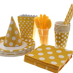 Sunflower Yellow Dots Tableware