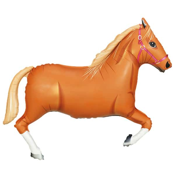 Tan Horse Helium Foil Giant Balloon 109cm / 43 in