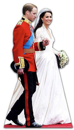 The Royal Wedding Lifesize Cardboard Cutout - 182cm Product Gallery Image