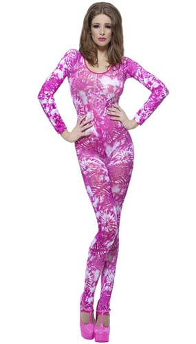 Tie Dye Costume One Size Ladies Fancy Dress