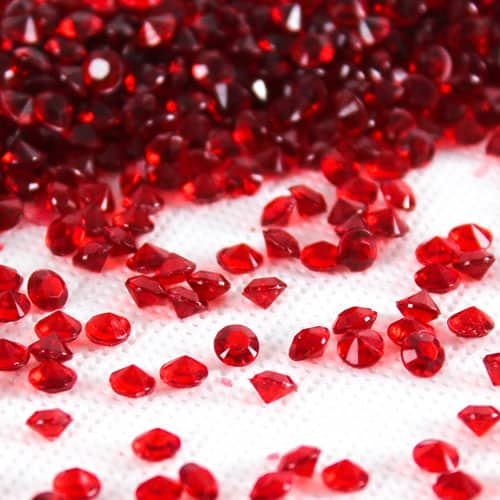 Tiny Red Premium Table Gems - 12 Packs of 28 Grams Product Image