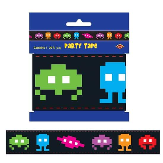 Totally 80s Plastic Party Tape - 6m