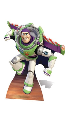 Toy Story Buzz Lightyear Wings Lifesize Cardboard Cutout - 123cm Product Gallery Image