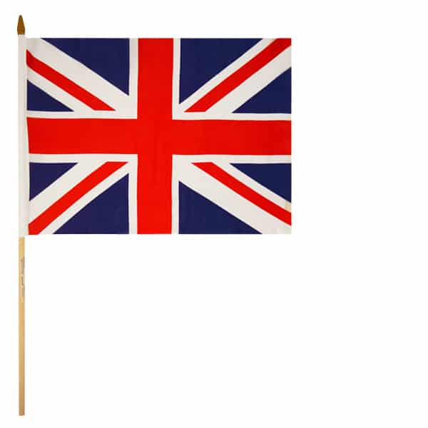 Union Jack Hand-Held Waving Flag 45cm