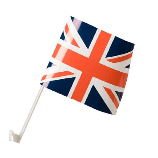 Union Jack Car Flag On Stick 38cm