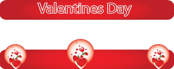 Valentine's Day Roses Design Small Personalised Banner - 4ft x 2ft
