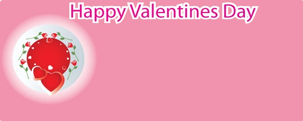 Valentines Pink Heart Design Small Personalised Banner- 4ft x 2ft