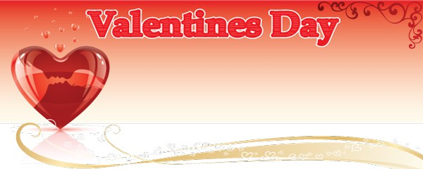 Valentines Day Floating Hearts Design Small Personalised Banner- 4ft x 2ft