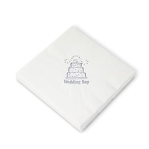 Wedding Cake White 3 Ply Napkins - 16 Inches / 40cm - Pack of 20