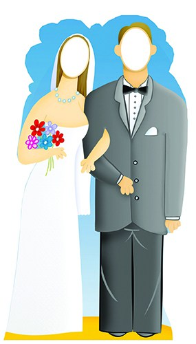 Wedding Couple Stand In Cardboard Cutout - 188cm Product Image