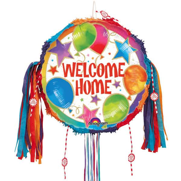 Welcome Home' Balloons Pull String Pinata Product Image