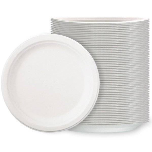 White Poly Plates - 10 Inches / 26cm - Pack of 125