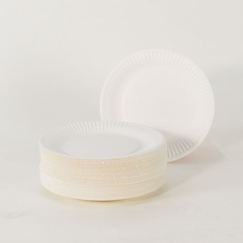 White Paper Plates - 7 Inches / 18cm - Pack of 100