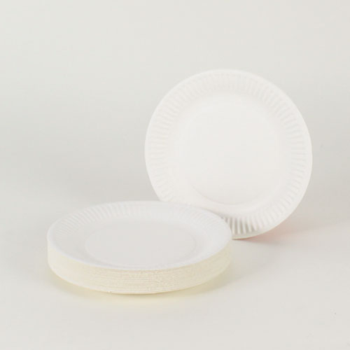 White Paper Plates - 7 Inches / 18cm - Pack of 35