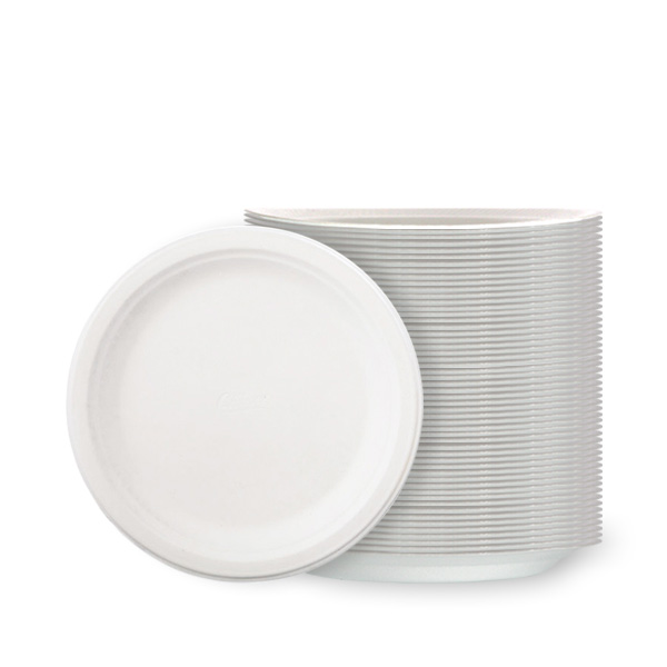 White Poly Plates - 7 Inches / 18cm - Pack of 100