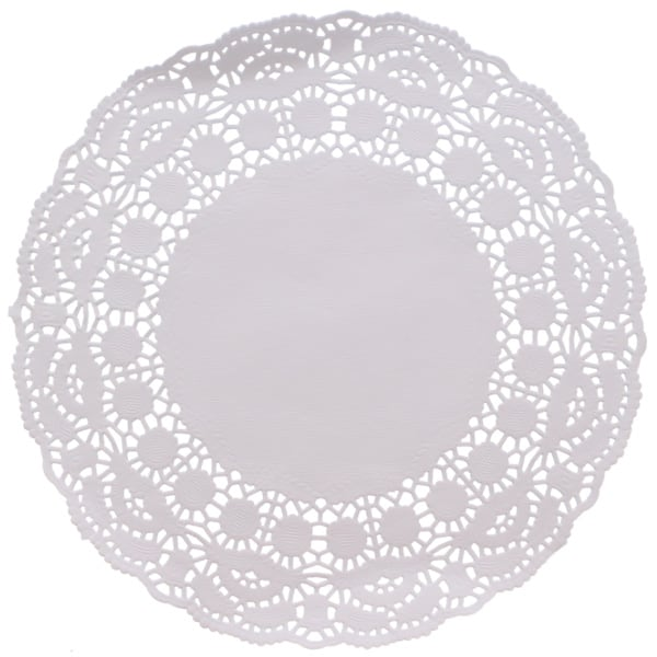 paper dollies Paper doilies in three assorted designs and sizes perfect for small plates of nibbles and larger platters of food.