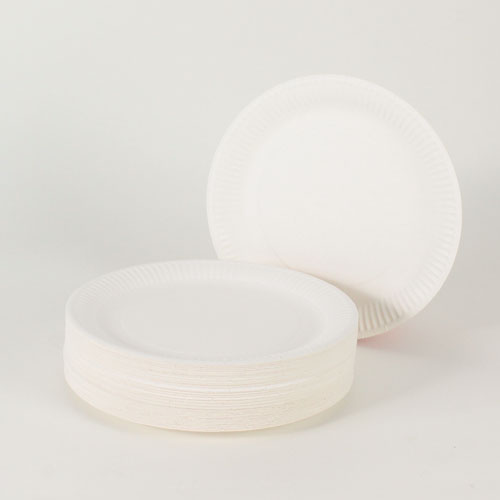 White Paper Plates - 9 Inches / 23cm - Pack of 100
