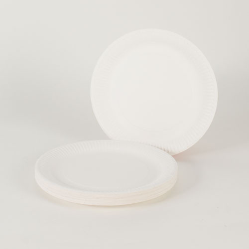 White Paper Plates - 9 Inches / 23cm - Pack of 30