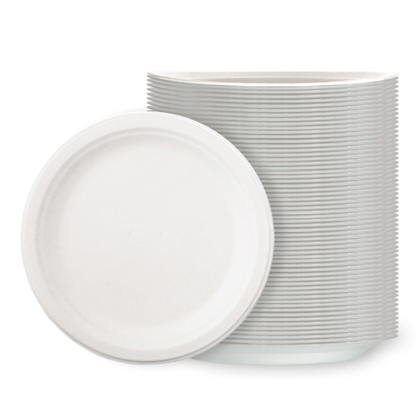 White Poly Plates - 9 Inches / 23cm - Pack of 125