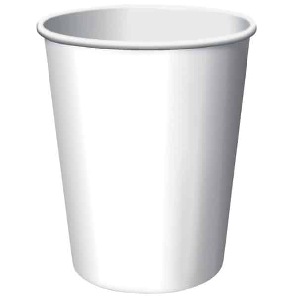 White Paper Cups 270ml - Pack of 14