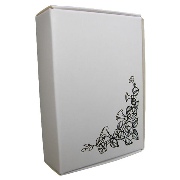 White Cake Boxes with Gold Motif Print - Pack of 10