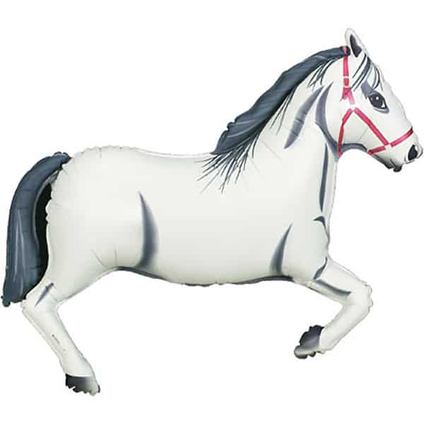White Horse Helium Foil Giant Balloon 109cm / 43 in