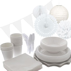 White plain tableware