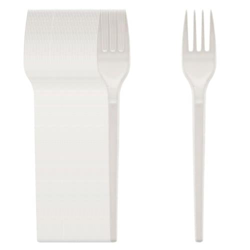 White Plastic Forks - Pack of 50