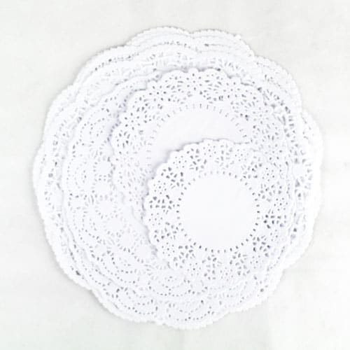 White Round Paper Doilies - Assorted - Pack of 32
