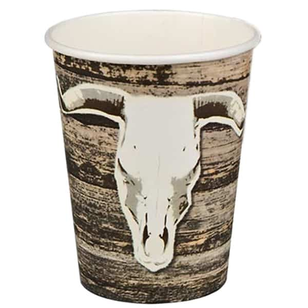 Wild Western Theme Paper Cup 255ml