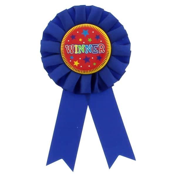 winner award ribbon rosette single partyrama co uk