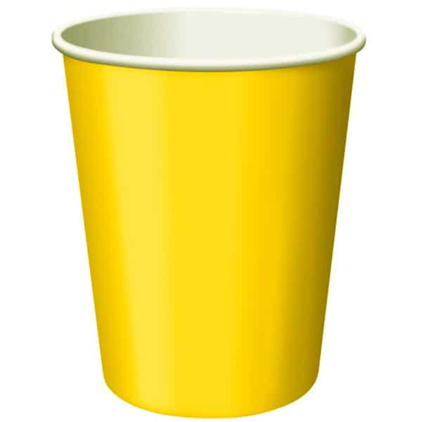 Yellow Paper Cup - 9oz / 266ml Product Image