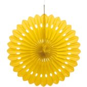 Yellow Hanging Decorative Honeycomb Fan