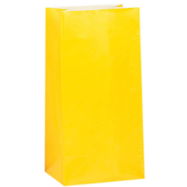 Yellow Paper Party Bag - Pack of 12 Product Image