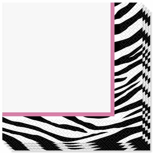 Zebra 2 Ply Luncheon Napkins - 13 Inches / 33cm - Pack of 16