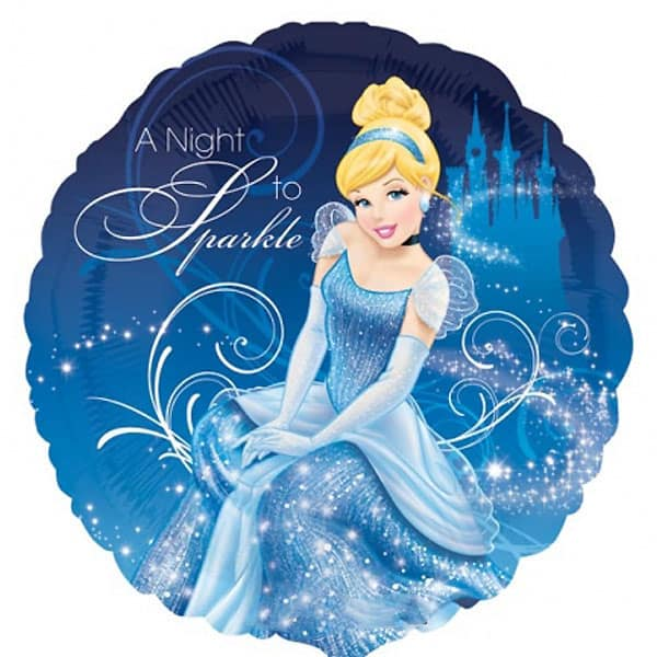 Cinderella-Themed-Round-Foil-Balloon-product-image