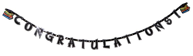 Congratulations' Graduate Jointed Letter Banner - 5.5 Ft / 165cm