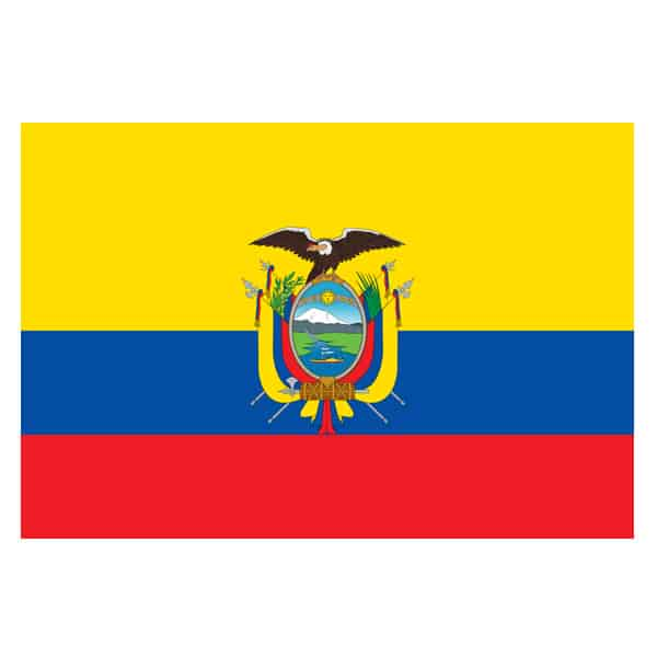 Ecuador Flag - 5 x 3 Ft Gallery Image