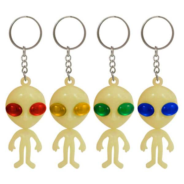 Glow In The Dark Alien Key Ring Product Image