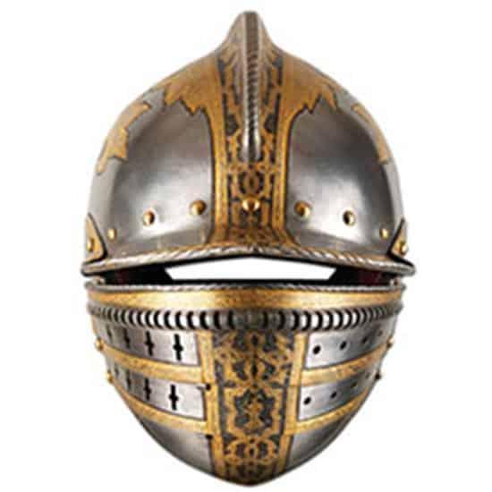 Medieval Helmet Cardboard Face Mask