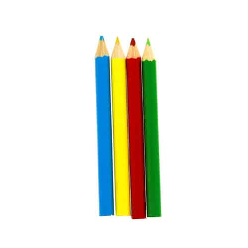 Mini Colouring Pencils - Pack of 4