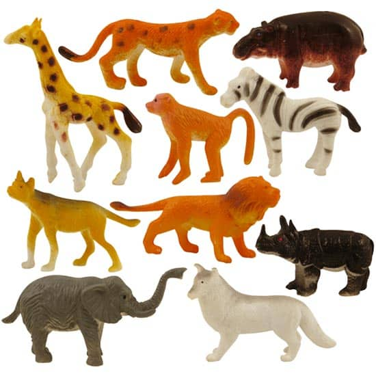 Assorted Mini Jungle Animal Figurine