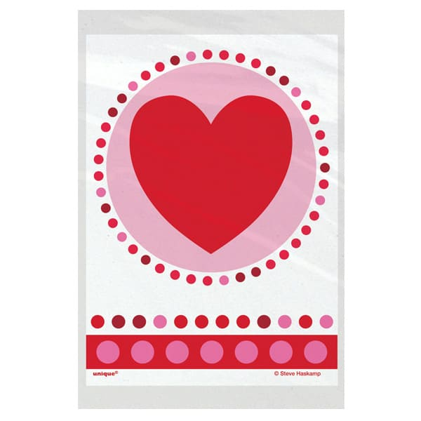 Radiant Hearts Mini Treat Bags - Pack of 50