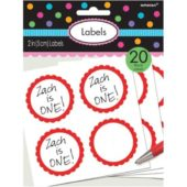 Red Scalloped Sticker Labels – Pack of 20