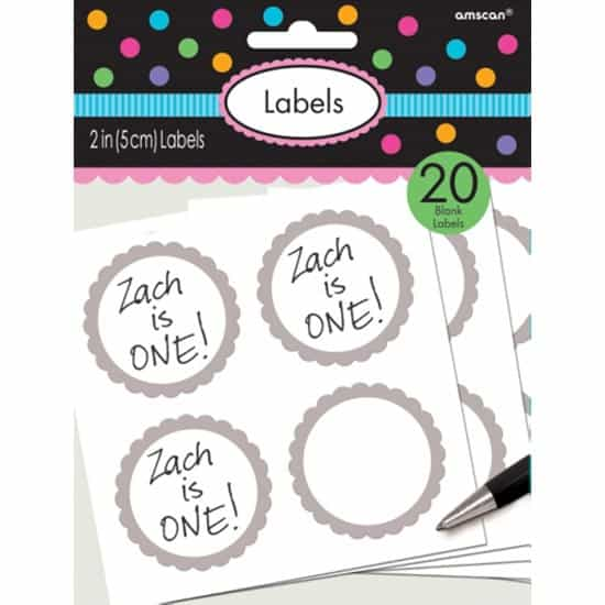 Silver Scalloped Sticker Labels - Pack of 20