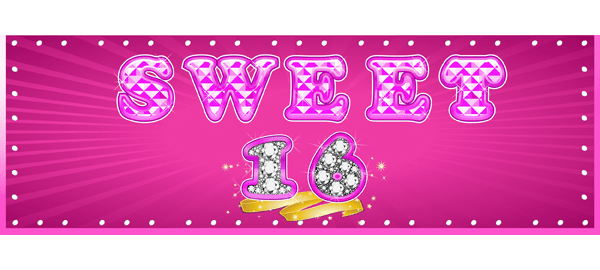 16th Birthday Personalised Banners